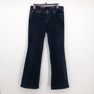 AG ADRIANO GOLDSCHMIED Merlot Baby Wale Cord Jeans